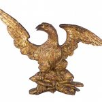 Early carved eagle wall plaque.