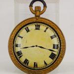 19th c. cast iron and tin (or zinc) clock trade sign.