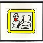 "Roy Lichtenstein (1923-1997), ""Red Lamp"", color lithograph, 1992 pencil signed and numbered edition (#226/250)"