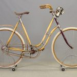 C. 1898 Chilion Wooden Frame Bicycle