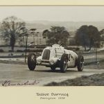 "Louis Klemantaski (1912-2001), ""1938 Tourist Trophy-A C. Lace-Talbot. Signed photograph."