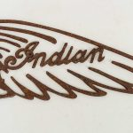 Sheet Iron Indian Sign