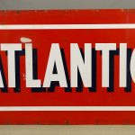 Atlantic Double Sided Porcelain Sign