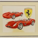 Ebert (20th Century), Ferrari, Original Artwork