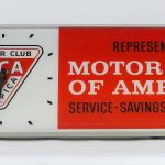 Motor Club Of America Clock