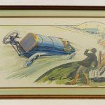 Marguerite Montaut Pochoir print. Indianapolis 500