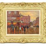 """Edouard Leon Cortes (1882-1969), """"CAFE DE LA PAIX"""", oil on canvas"""