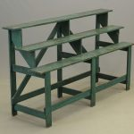 Early tiered plant stand in old green paint