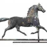 Horse weathervane with cast head