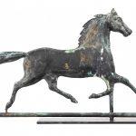 Horse weathervane with cast head
