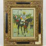 "M. Rousseau (France 20th Century), ""Le Jockey"", oil on canvas"