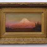 "James Everett Stuart (1852-1941), ""Sunset Glow / Mt. Tacoma"". Landscape"