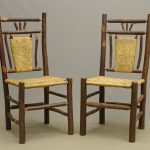 Pair Old Hickory Style Chairs