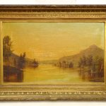 Nelson Augustus Moore (Ct. 1842-1902), 19th c. landscape, signed LLC, dated 1877, oil on canvas