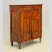 19th c. Tiger Maple Cupboard