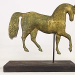 Howard style zinc and copper horse weathervane