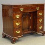 18th c. English mahogany kneehole desk
