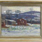 Horace Brown (1876-1949), landscape, signed LLC. Oil on masonite