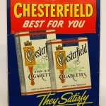 Vintage Chesterfield Cigarette tin sign