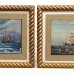 Maritime Vintage Painting Pair
