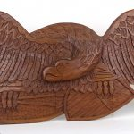 Carved Wooden Eagle Wall Plaque