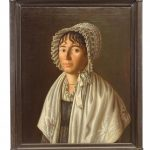 French School, Empire portrait of a woman, oil on canvas