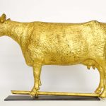 "Large Fiske ""Queen Of Oneida"" cow weathervane"