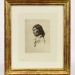 Frank Benson (1862-1951), Nascapee Indian, etching
