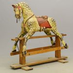 19th c. rocking horse in original paint.