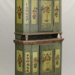 Early paint decorated Continental cupboard