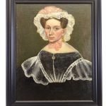 19th c. American School, portrait of a woman. Oil on canvas