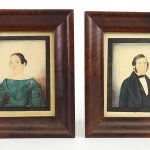 Pair 19th c. portraits of a man and woman