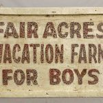 Early painted wood and sheet metal trade sign