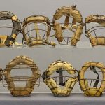 Lot (10) vintage catchers masks. C. 1920-1960, some marked.