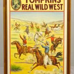 "1914 Wild West poster, ""TOMPKINS' REAL WILD WEST"". Donaldson Litho. Co., Newport KY"""