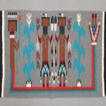 Navaho Yei rug with Rainbow God