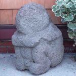 "Lava Stone Figure, 25"" Ht."