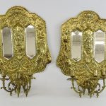 Brass Mirrored Wall Sconces