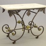 19th c. French Marble Top Bakery Table