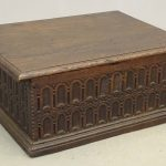Early Oak Bible Box