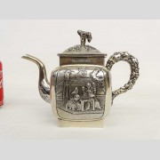 Asian silver teapot. Possibly