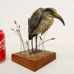 Painted Bronze Bird, Marked Geschutz