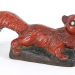 C. 1900 cast iron full body solid casting squirrel doorstop