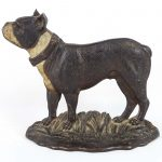 C. 1920 cast iron Boston Terrier doorstop. Bradley and Hubbard Foundry, Meriden Ct..