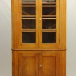 19th C. Cherry Corner Cupboard