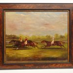 Early Horse Race Painting