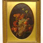 Painting, 19th c. Still Life With Grapes
