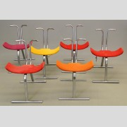 Set Of (6) Stendig Stacking Chairs
