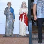 19th C. Painted Cast Iron George and Martha Washington Dumb Stoves