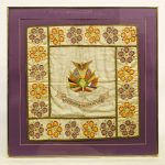 """WWI framed textile, """"SOUVENIR OF THE GREAT WAR"""""""